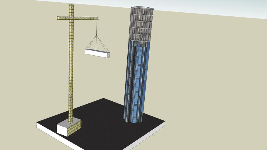 Torre Este Parque Central en reconstruccion