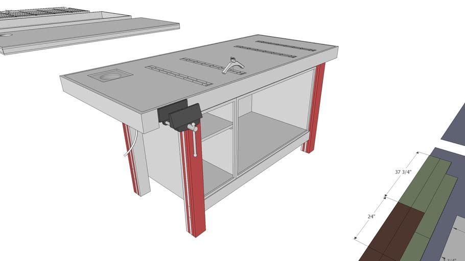 Plywood Workbench