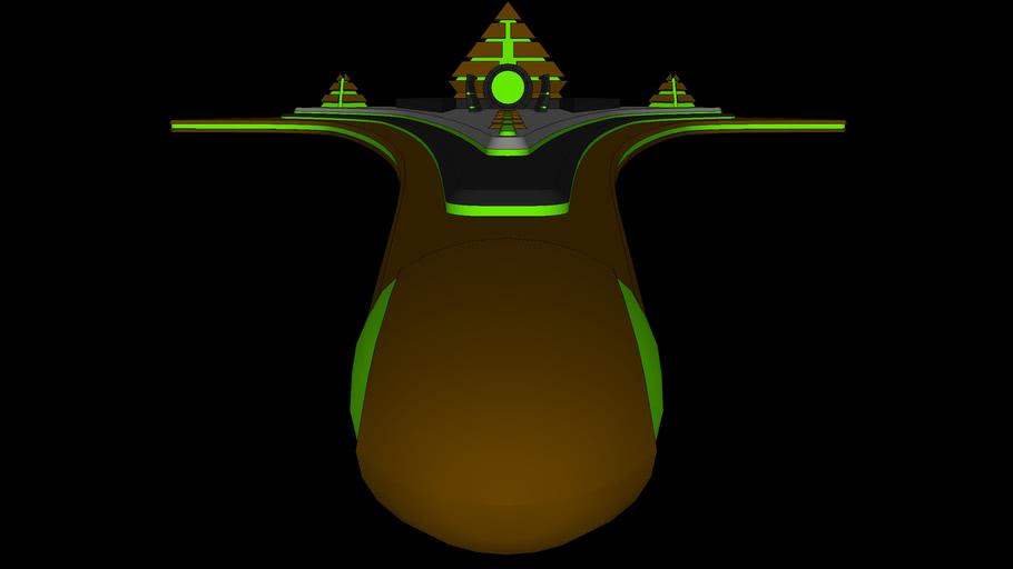 BFG Kitbash: Necron Destiny-class Tomb Ship | WIP