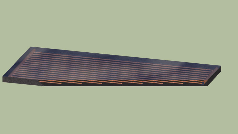 4X10 Flate Plate Solar Collector