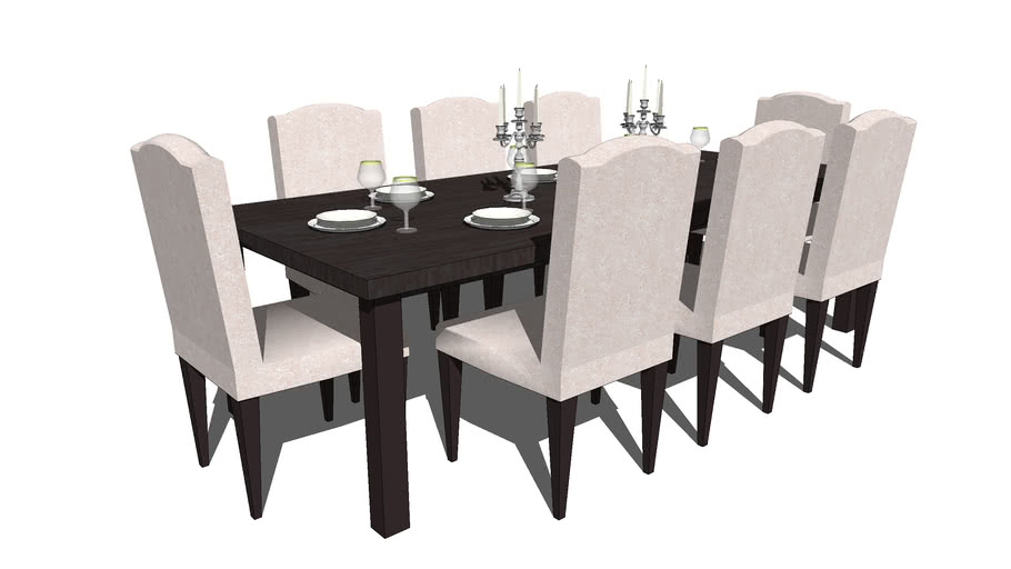 Dining Table 8 3d Warehouse