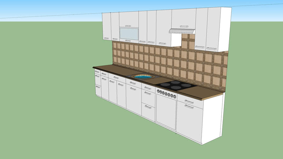 3.8m kitchen set
