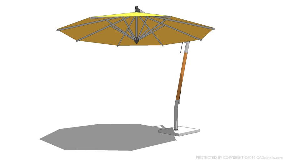 Woodline Picollo Round Cantilever Umbrella