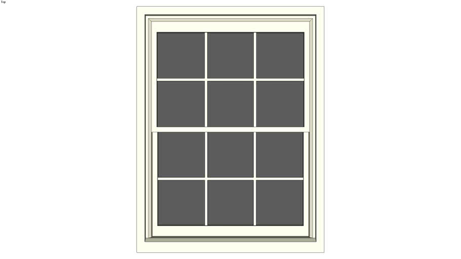 Double-hung window 35 in. x 46 in. with mullions