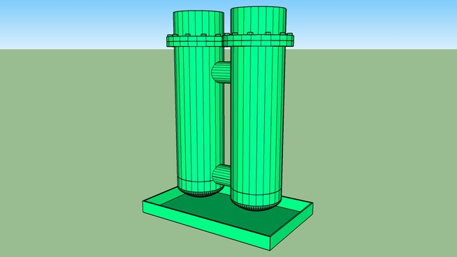 Two Bank Heat Exchanger