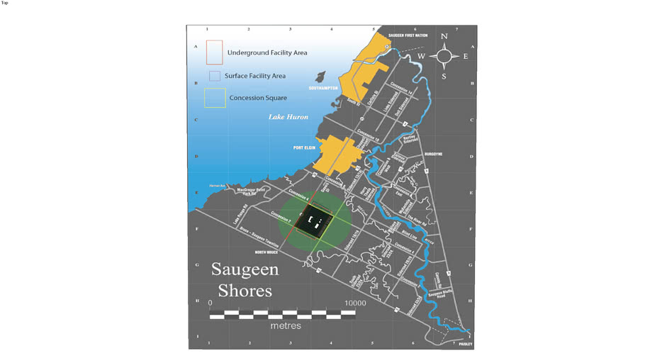 Saugeen Shores proposed DGR map