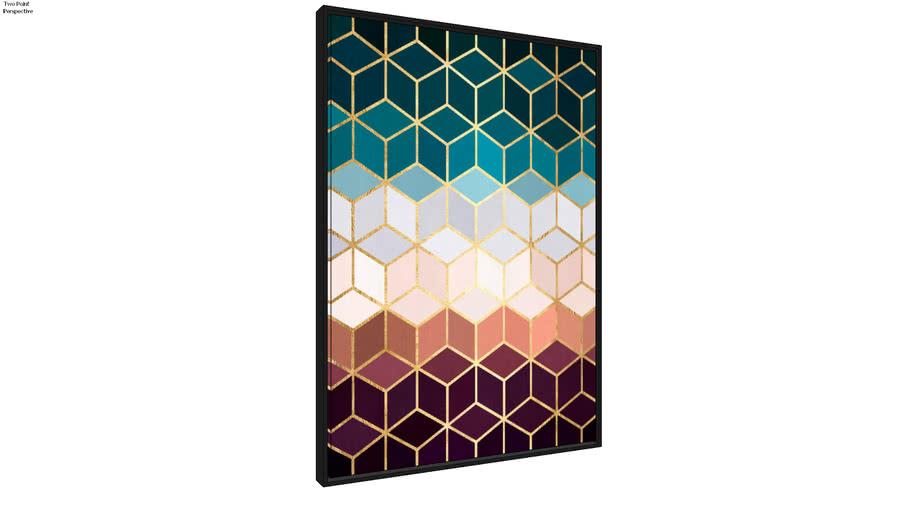 Quadro Mosaico Dourado VII