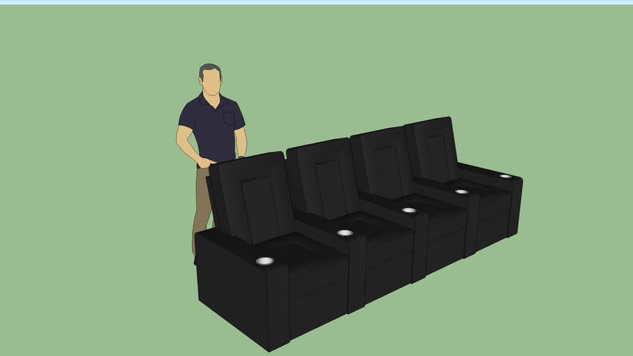 Low Poly theater seating