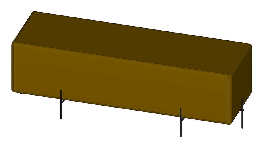 Puff Golden Retangular Maior