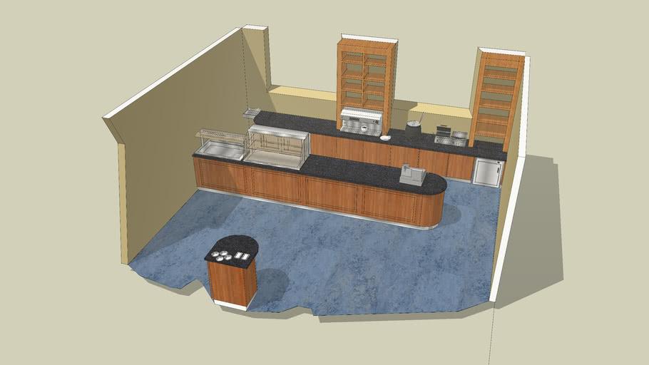 servery counter