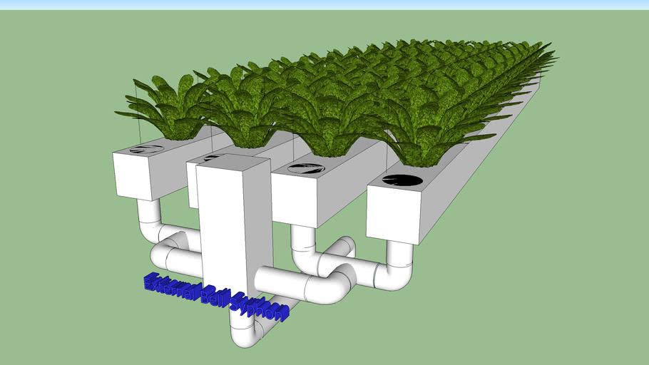 Flood and Drain/ NFT Hybrid Grow Pipes
