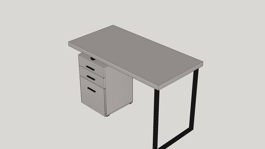 Pascua 3 Space Storage Drawers Computer Desk 3d Warehouse