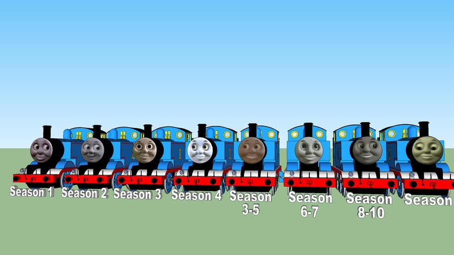 Thomas the Tank Engine's TV Series faces (Season 1-11)