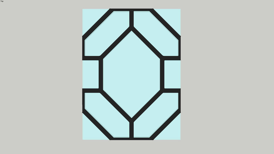 Tileable Leaded Glass Window Panel
