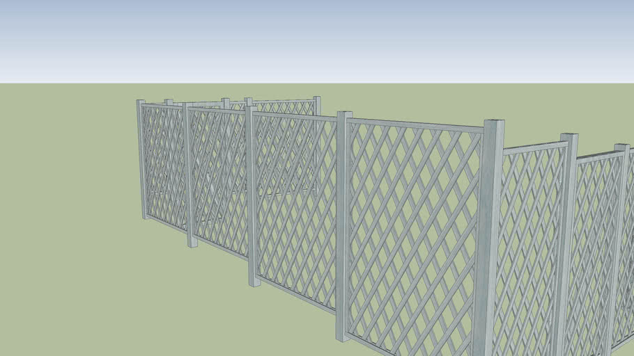 Wood Fence - Diamond Lattice