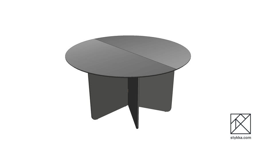 Round Exhibition Table