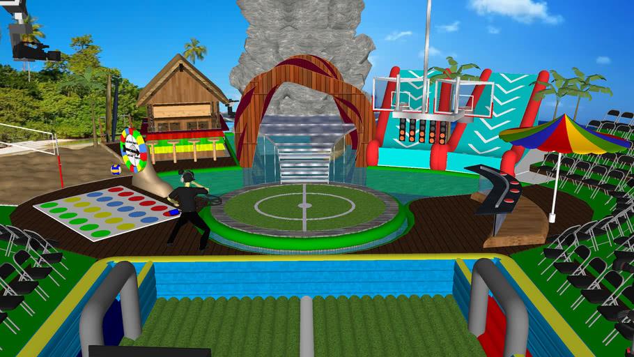 Tropical Island Game Show Set
