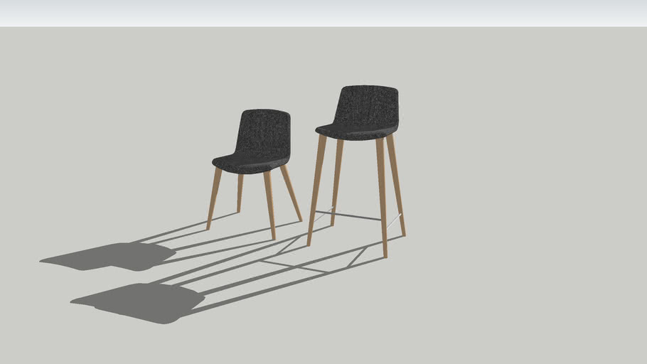 Bacco barstool and chair