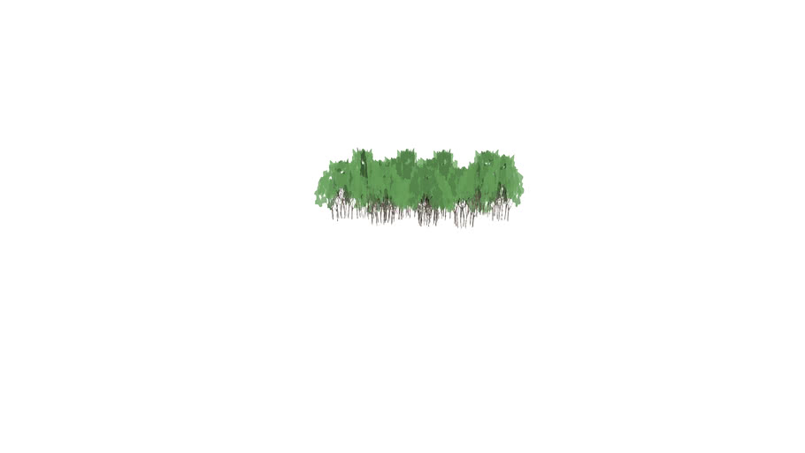 Clump of low poly trees