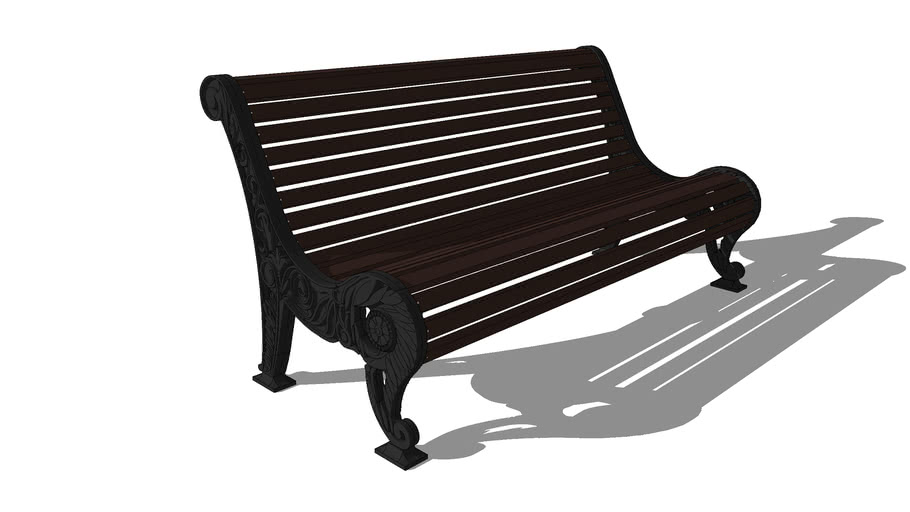 Скамейка чугунная «Нескучный Сад»