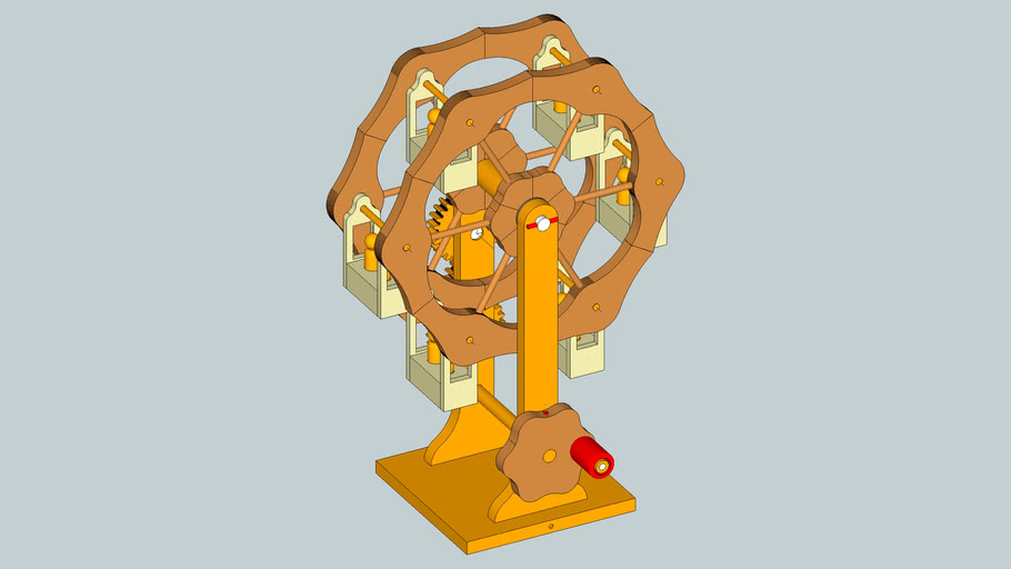 Hand-Cranked Wooden Ferris Wheel