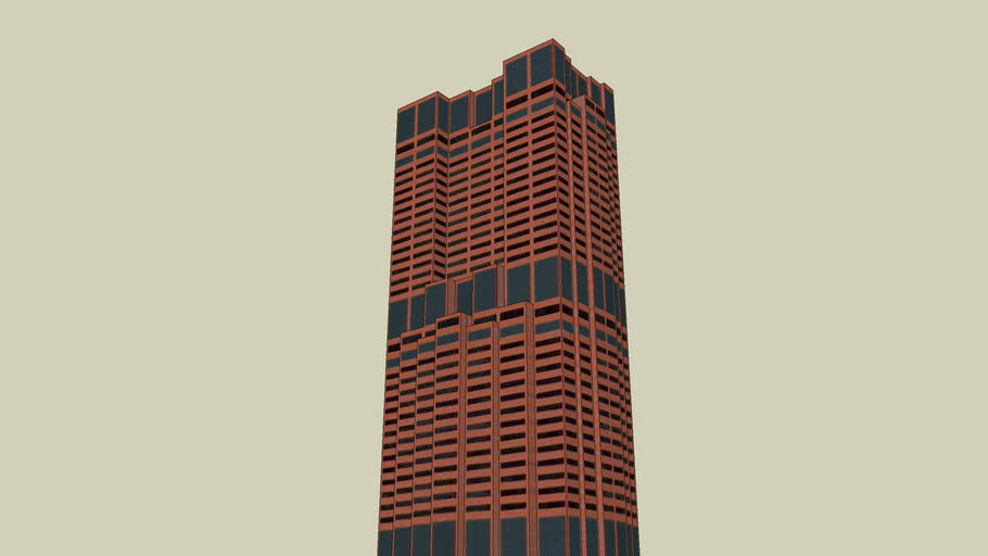 Edificio de Oficinas rojo