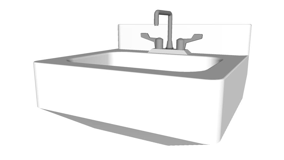 Wall Mounted Sink - Detailed