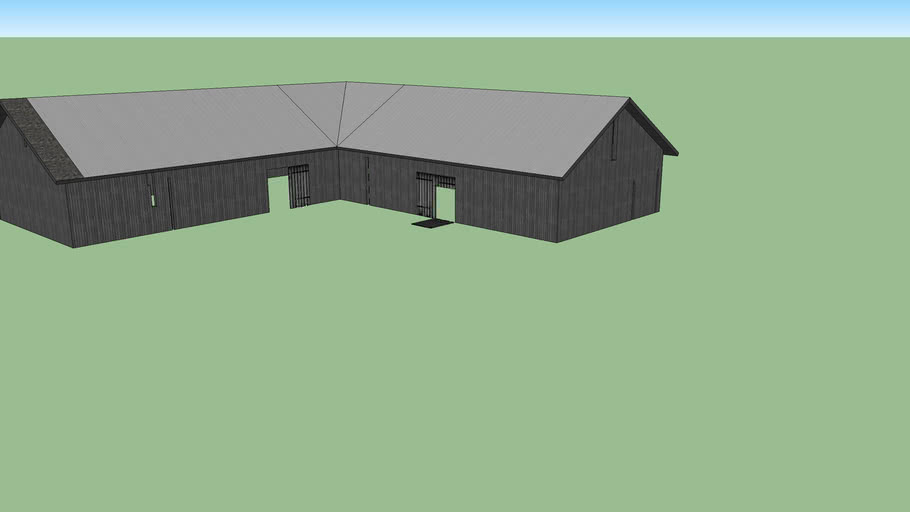 Old L-Shape barn