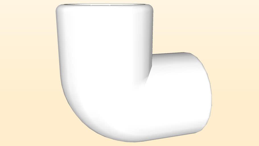 """Joelho 90º PVC 25mm (3/4"""")"""