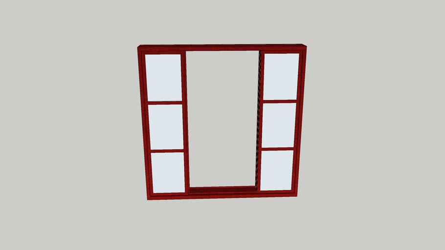 Janela metálica de alumínio (glass windows)