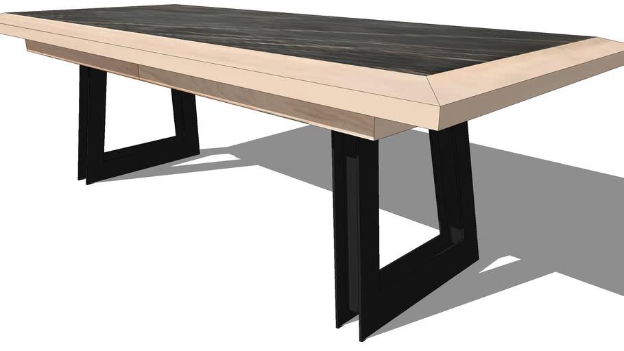 VULCAIN EXPENDING DINING TABLE, REF 1230, Michel FERRAND