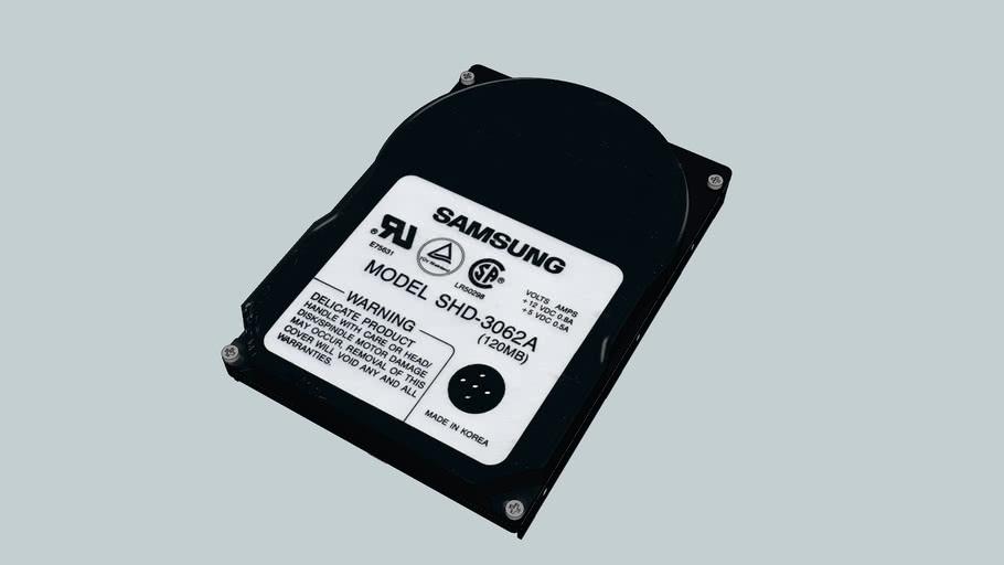 120MB Festplatte mit komplettem innenleben!