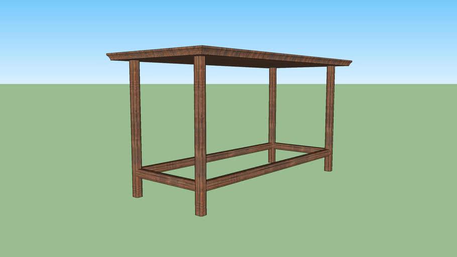 mesa alta madeira