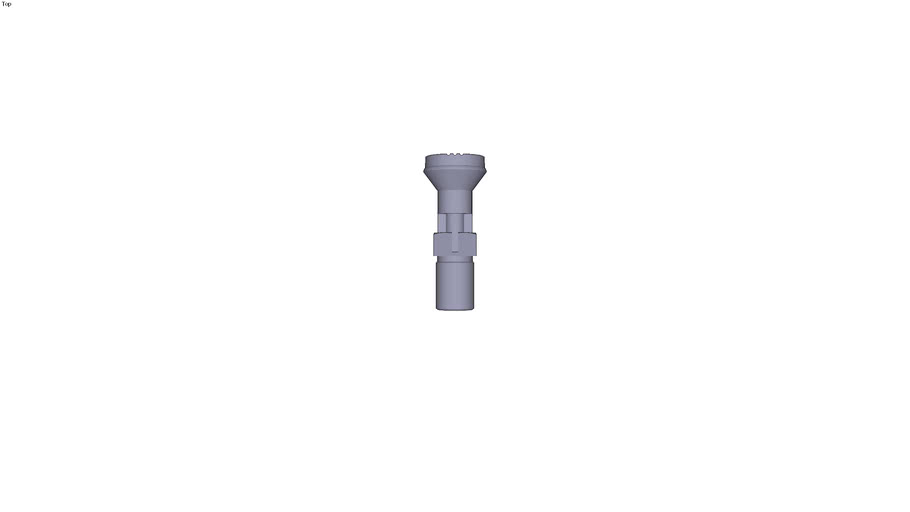 Index pin with plastic head finish steel treated indexing pin form C - M20 x 15