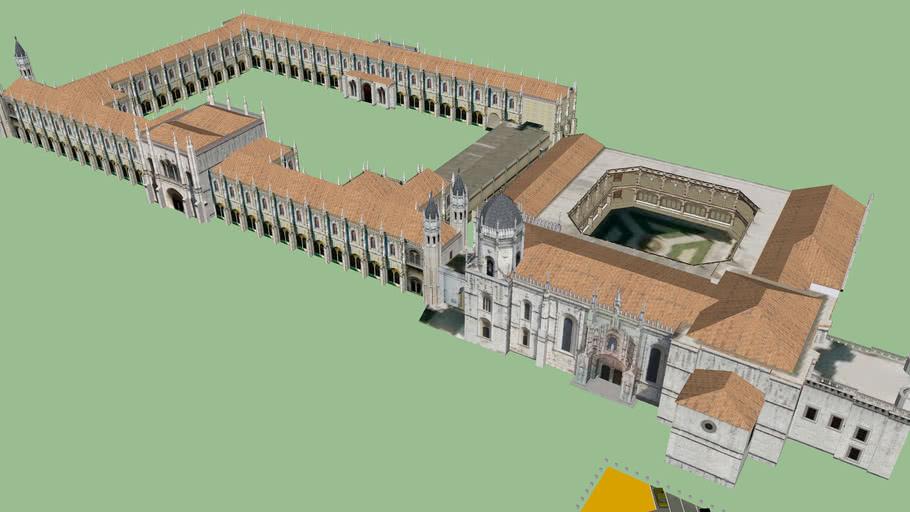 Modelo 3D do Mosteiro dos Jerónimos - Completo