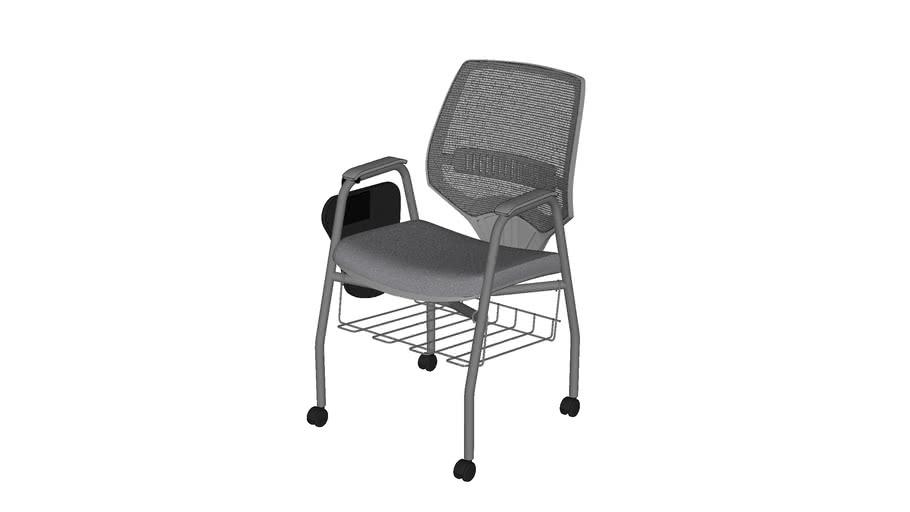Cadeira c/ Rodízios, Prancheta e Grade Marelli You 220BPDG