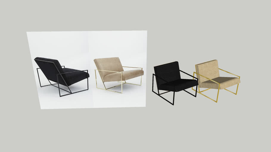 Modern Design Fauteuil.Modern Chairs Fauteuil Leather Corduroy Gold Metal 3d Warehouse