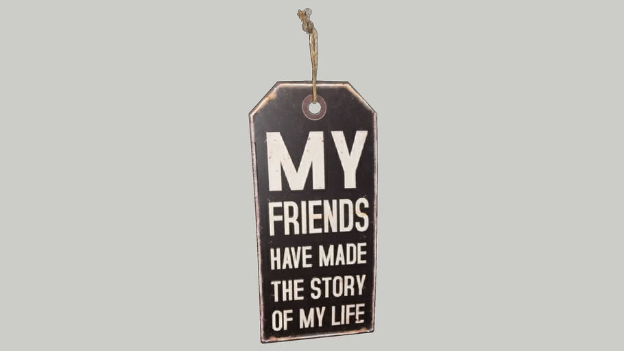 Wandbord My Friends