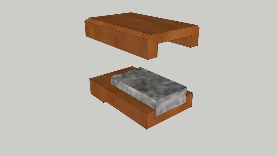 Oilstone case Section