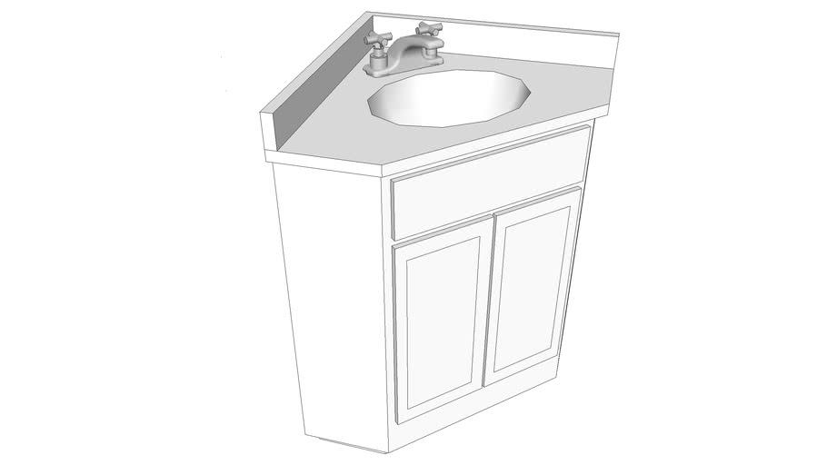 Corner Vanity 24 X 3d Warehouse, 24 Corner Vanity With Sink