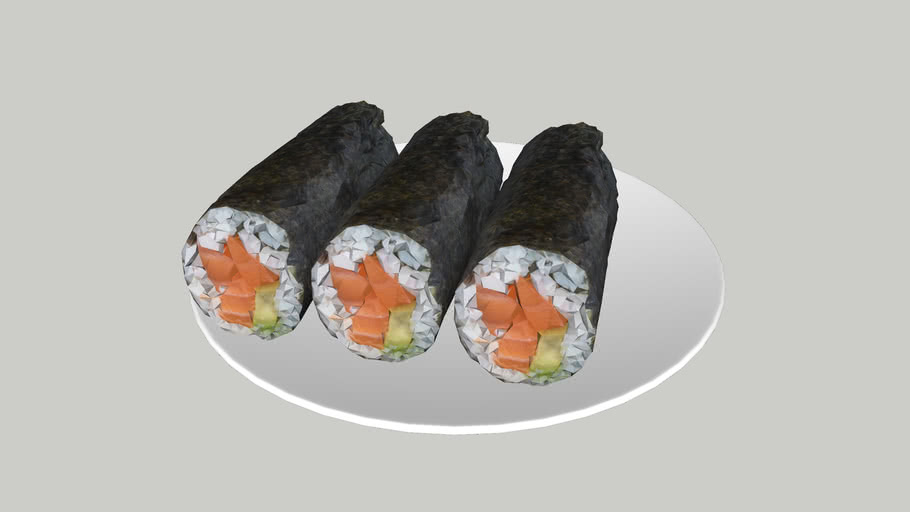 鮭魚壽司捲  Salmon sushi roll  鮭魚