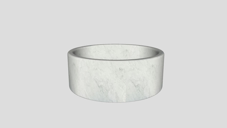 Balnea | Bathtub in Bianco Carrara marble | Ø150 cm | Salvatori