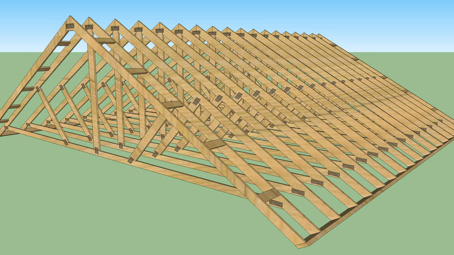 Roof Trusses w/Strapping