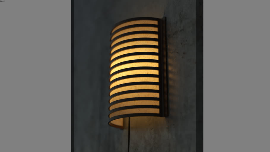 Wooden Wall Mounted Night Lamp Rice Paper Inside Upgraded Version 3d Warehouse