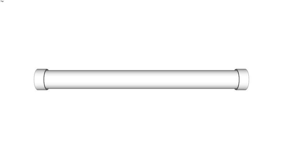 Poign�e tubulaire inox avec supports taraud�s