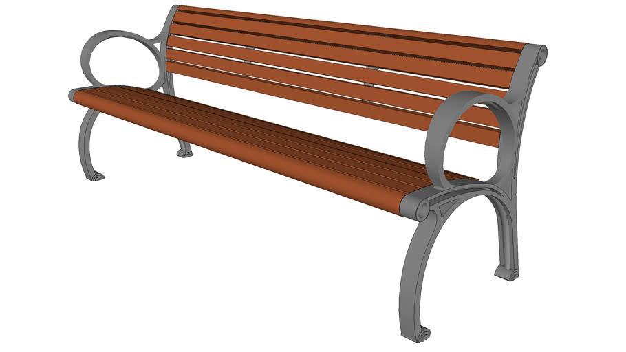 Plainwell Bench with Aluminum Seat