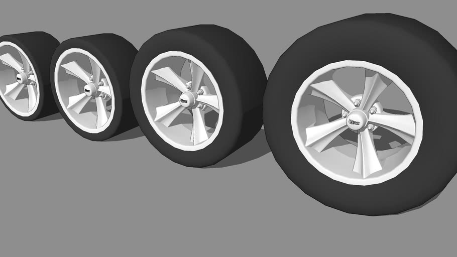 HotRod Rims on different sized tires