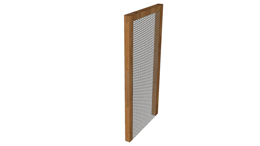 Timber Frame with Mesh Panel
