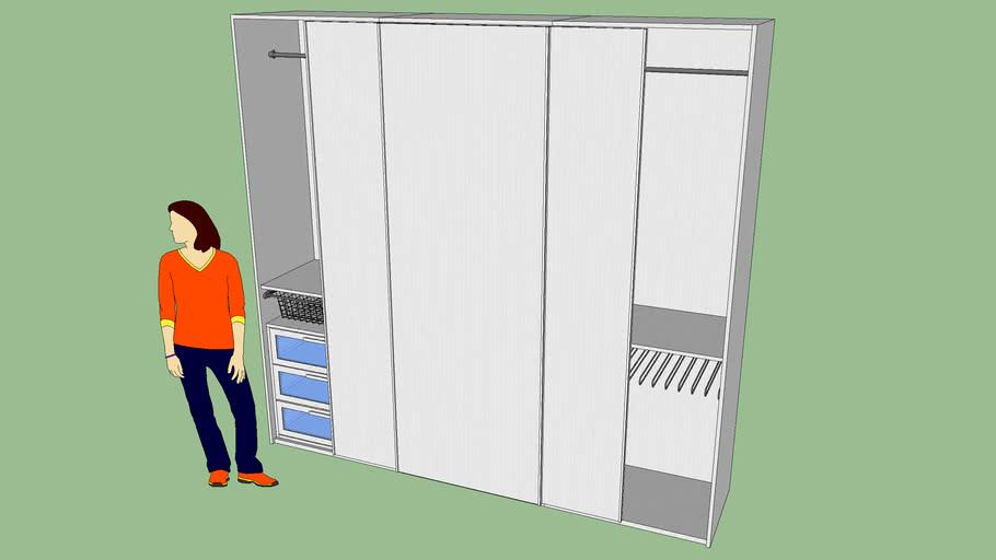 Armadi A Due Ante Mondo Convenienza.Armadio Eleonora 3ante Scorrevoli Mondo Convenienza 3d Warehouse