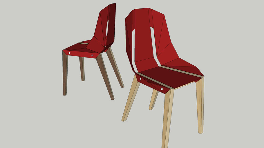 DIAGO chair by Tabanda -  coral red